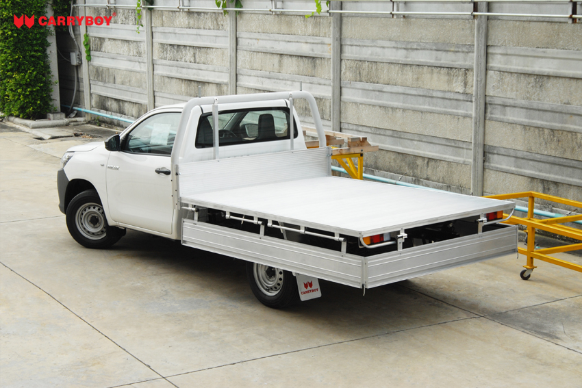 Carryboy Fahrgestellaufbau Toyota Hilux Singlecab Aluminium Ladeflächenumbau maximale Beladung erhöhen