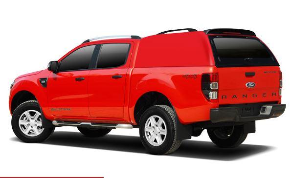 CARRYBOY Ford Ranger Doppelkabine Zubehör Hardtop mit geschlossenen Seiten 560oS-FTD Wagenfarbe lackiert