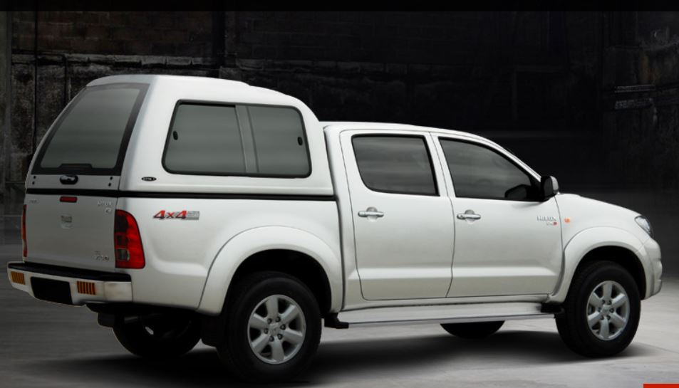 Carryboy Hardtop 840 in Übergröße für Toyota Hilux Vigo Doppelkabine | Hardtop über Kabinenhöhe