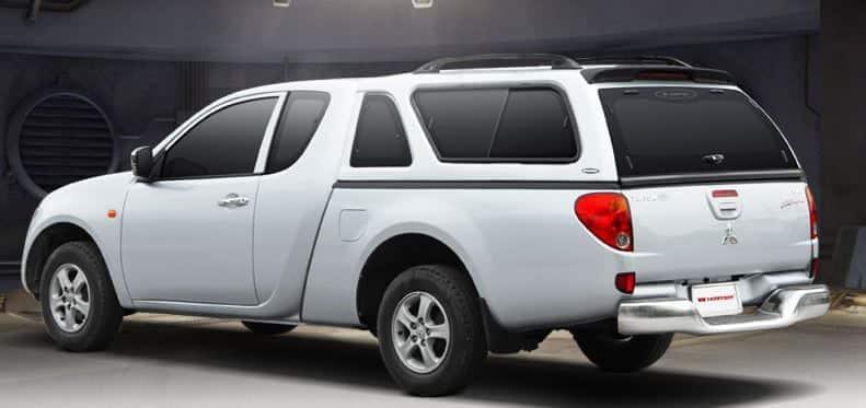 CARRYBOY Hardtop mit Schiebefenster 560-MTCP Mitsubishi L200 Clubcab Extrakabine 2009-2015 extrem stabil und belastbar