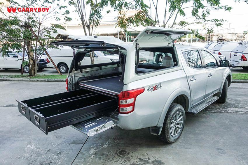 CARRYBOY Ladebodenauszug mit Werkzeugschubladen Kombination CB-800 Größe S Kombination mit Hardtop