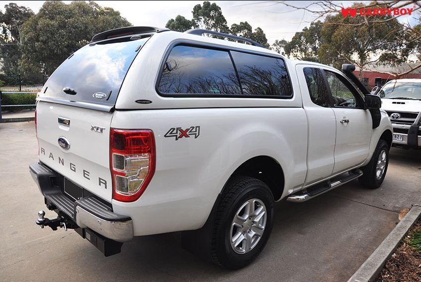 CARRYBOY Hardtop 560gF mit großen Schiebefenster für Ford Ranger Extrakabine Heckscheibe mit Heckscheibenheizung