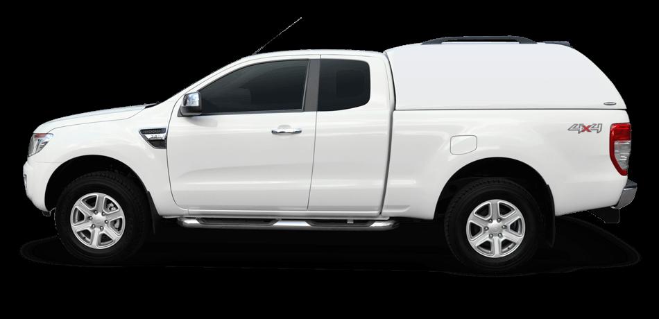 CARRYBOY Hardtop 560oS-MNC ohne Seitenfenster geschlossene Seiten Fiat Fullback 2016-2019 Clubcab Extrakabine