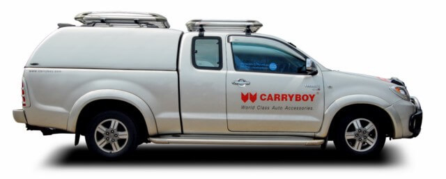 CARRYBOY Hardtop geschlossene Seiten ohne Fenster 560oS-MTC Mitsubishi L200 Clubcab Extrakabine 2005-2015 belastbares GFK Dach
