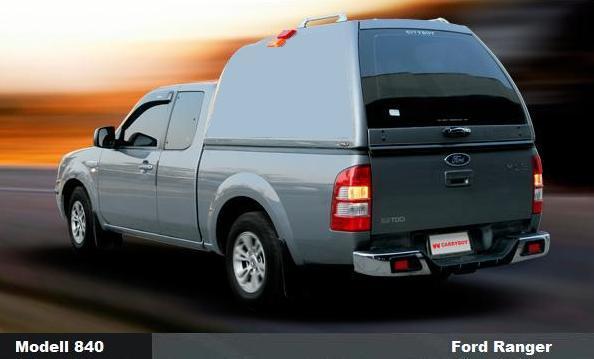 CARRYBOY Hardtop 840oS mit Überhöhe für Ford Ranger Extrakabine 2012+ Hardtop über Kabinenhöhe