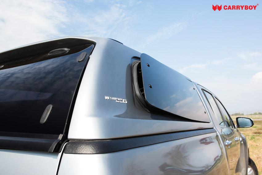 CARRYBOY Sport Hardtop S6-TRD mit Ausstellfenster elegantes Design Toyota Hilux Revo Invincible Doppelkabine  Lüftungsfenster - führend in Qualität und Design