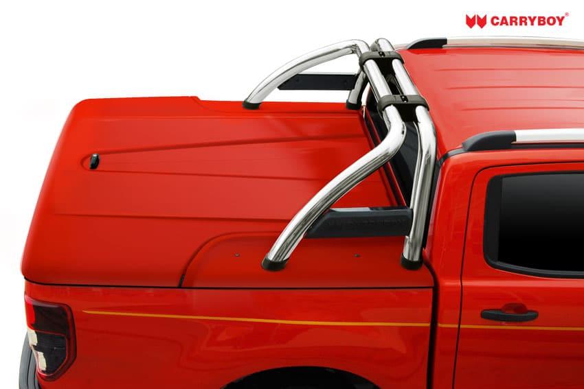 CARRYBOY Laderaumabdeckung GFK Deckel mit Bügel SLX Toyota Hilux Vigo Doppelkabine 2005-2015