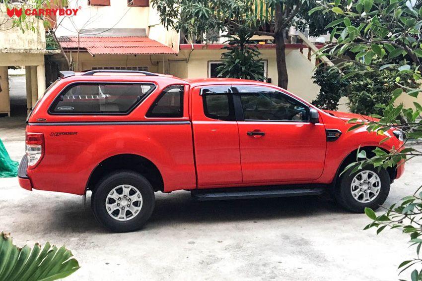 CARRYBOY GFK Hardtop mit Schiebefenster Ford Ranger Extrakabine 2012+ Dachreling 80kg