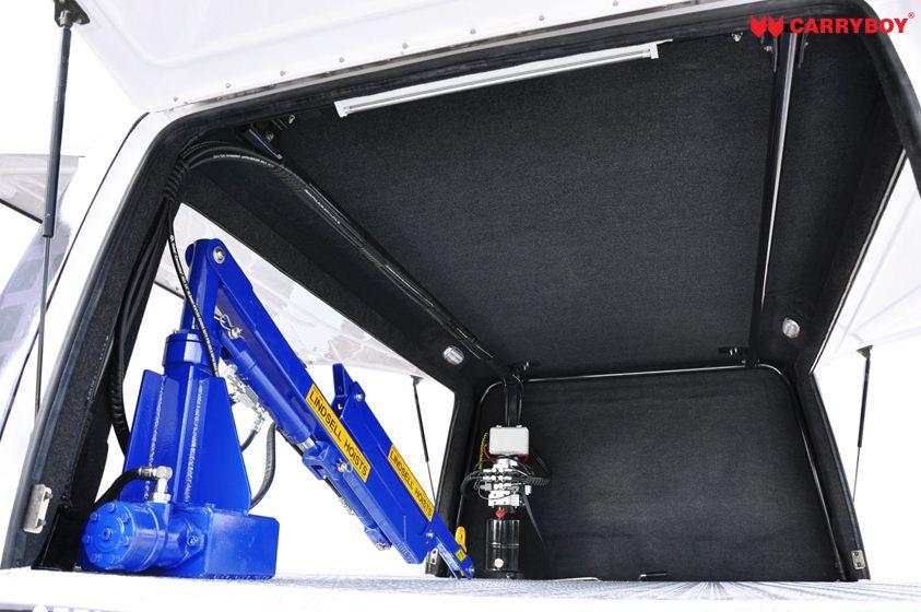 CARRYBOY Fahrgestellaufbau Kofferaufbau für Ford Ranger Singlecab schwarzer Innenteppcih