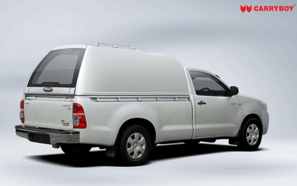 CARRYBOY Hardtop Überhöhe geschlossene Seiten Toyota Hilux Vigo Singlecab Einzelkabine 2005-2015 Lackierung in Wagenfarbe