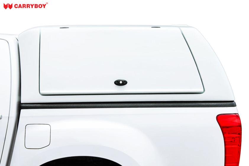 CARRYBOY Gewerbehardtop WM-NFD mit großen Flügelklappen Nissan Navara D40 Doppelkabine Wagenfarbe