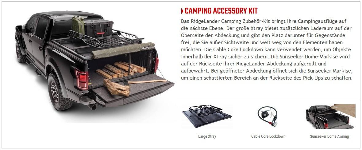 Laderaumabdeckung Ridgelander Ergänzungsset: Camping und Zelten