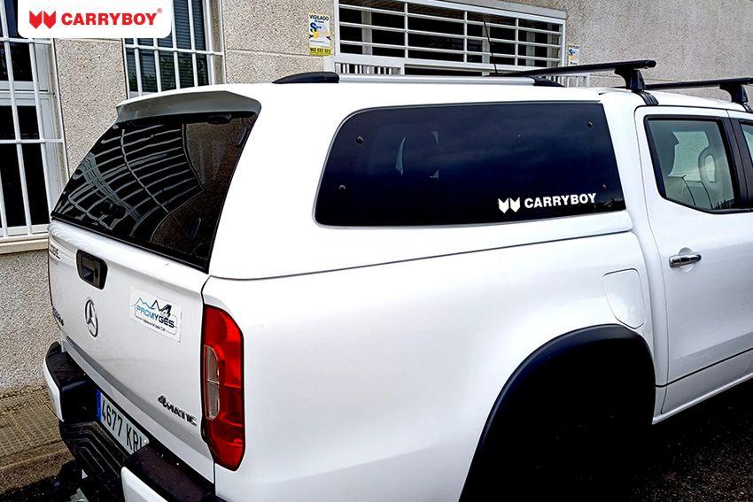CARRYBOY Hardtop S6-BXD Mercedes X-Klasse Doppelkabine Hardtop mit getönten Ausstellfenstern