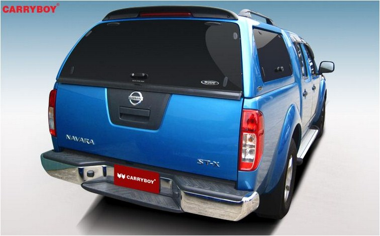 CARRBOY Hardtop SO-NFD Nissan Navara D40 Doppelkabine mit Klappfenstern getönt extrem stabiles GFK