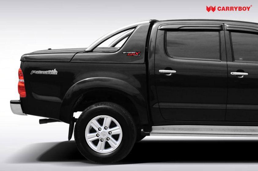 CARRYBOY Laderaumabdeckung mit Edelstahlbügel GRX-TVD Toyota Hilux Vigo Doppelkabine