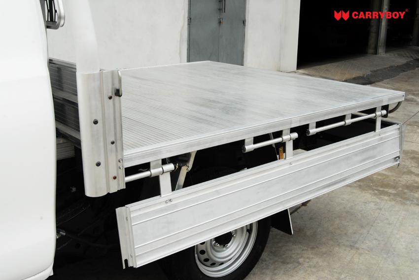 Carryboy Einzelkabine Pickup Ladeflächenumbau herunterklappbare Seitenbracken