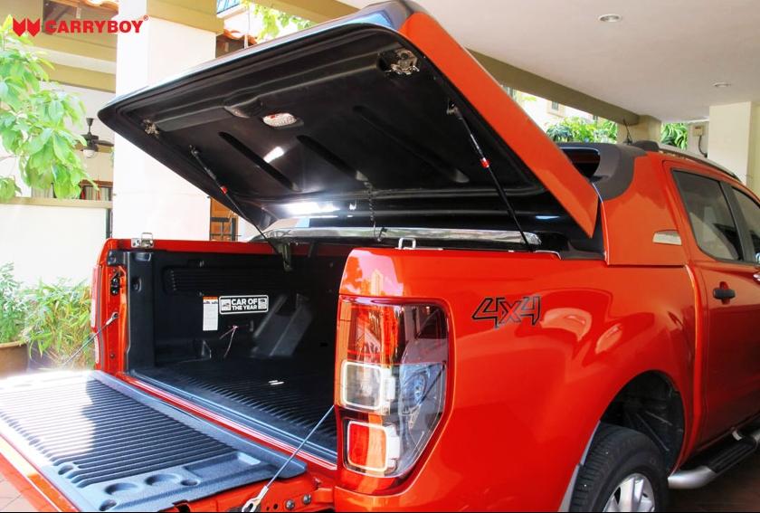 Ford Ranger Laderaumabdeckung Fullbox 762 mit Überrollbügel, großer Öffnungswinkel