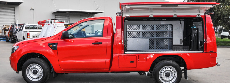 CARRYBOY Pickup Kofferaufbau Innenausstattung Ford Ranger Singlecab