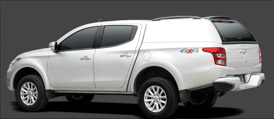 CARRBOY Hardtop 560oS-MND geschlossene Seiten ohne Fenster Mitsubishi L200 Doppelkabine 2016+ stabiles GFK Hardtop