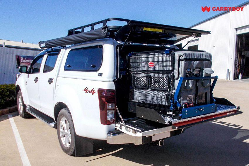 CARRYBOY Ladebodenauszug ausziehbarer Ladeboden 350kg Premium Aluminium Vollbett Schublade hohe Belastbarkeit