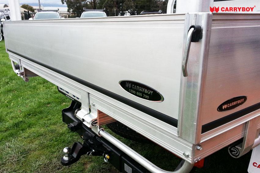 Carryboy Fahrgestellaufbau Aluminium Pickup Ladefläche seitliche Bracken herunterklappbar Doppelkabine