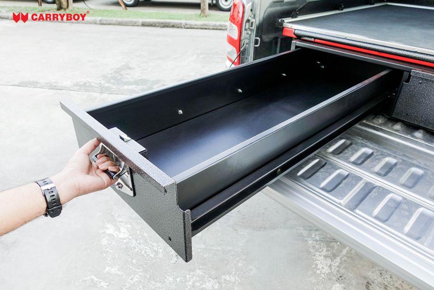 CARRYBOY Ladebodenauszug mit Werkzeugschubladen Kombination CB-800 Größe S 300kg belastbarkeit