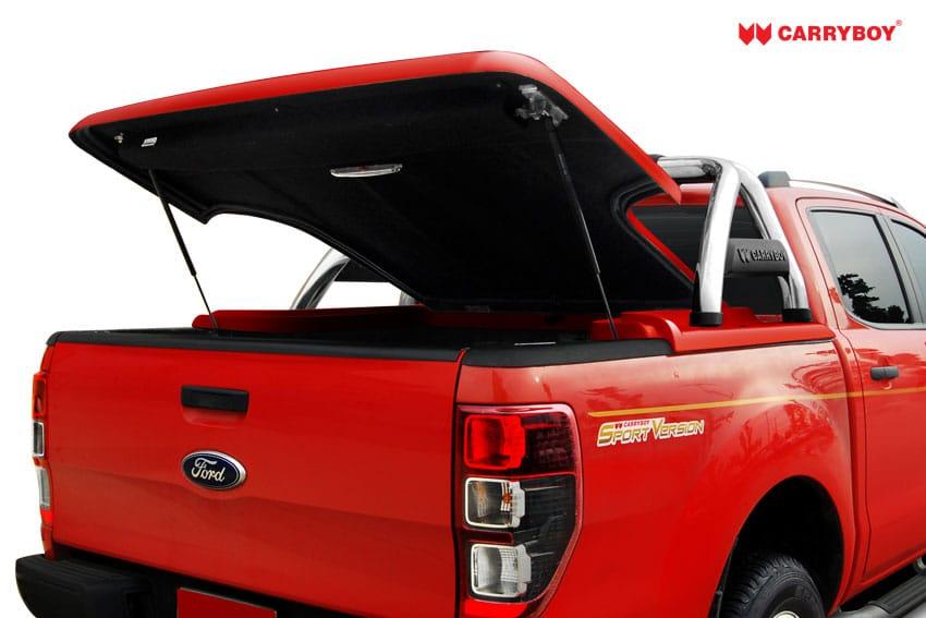 CARRYBOY Laderaumabdeckung Flachabdeckung mit Bügel SLX Ford Ranger Doppelkabine 2012+