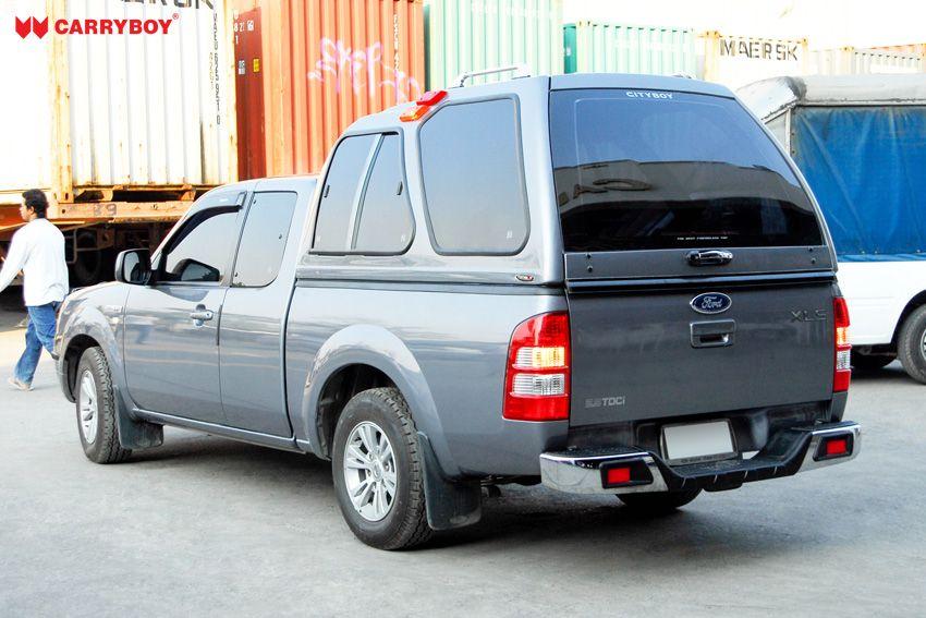 CARRYBOY Hardtop mit Überhöhe Schiebefenster 840-FC Ford Ranger Extrakabine 2002-2011 Lackierung in Wagenfarbe