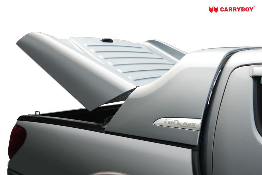 CARRYBOY Laderaumabdeckung Deckel Fullbox Öffnungswinkel gehärtete Scharniere L200 2005-2015 Doppelkabine