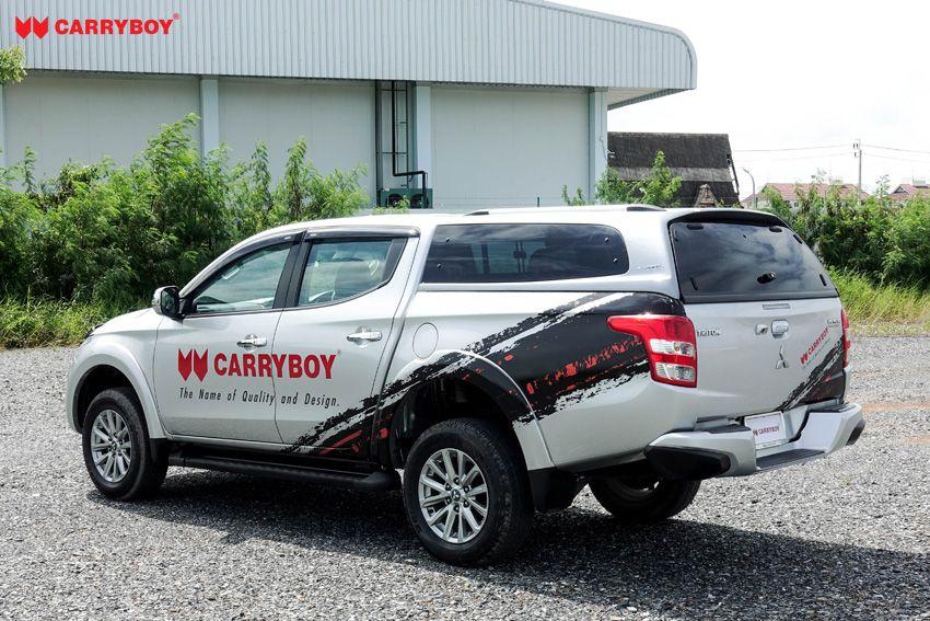 CARRYBOY Hardtop S6-MND Mitsubishi L200 Doppelkabine getönte Ausstellfenster einfacher Einbau ohne Bohren
