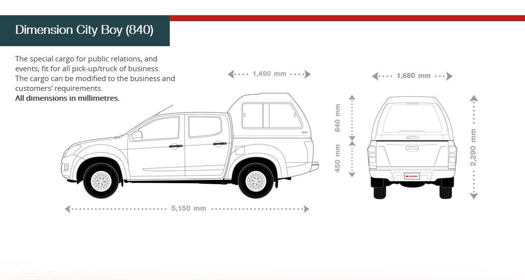 CARRYBOY Hardtop mit Überhöhe Nissan Navara D40 Kurzbett Doppelkabine Abmessungen