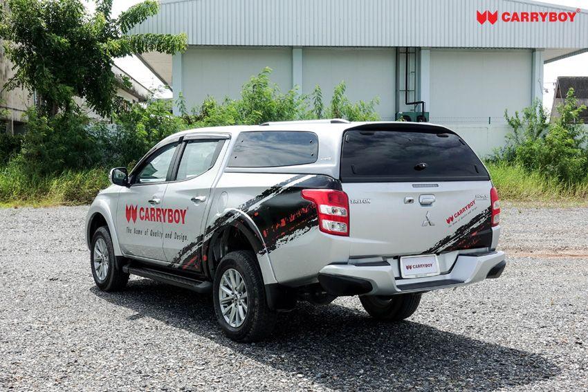 CARRYBOY Hardtop S6-MND Mitsubishi L200 Doppelkabine getönte Ausstellfenster sportlich elegantes Design
