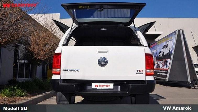 Volkwagen Amarok Hardtop von CARRYBOY mit seitlichen Klappen aus Kunststoff Heckscheibenheizung