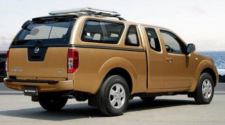 CARRYBOY Hardtop mit Schiebefenster Nissan Navara D40 Kingcab_Extrakabine  Vollglas Heckklappe mit Heizung