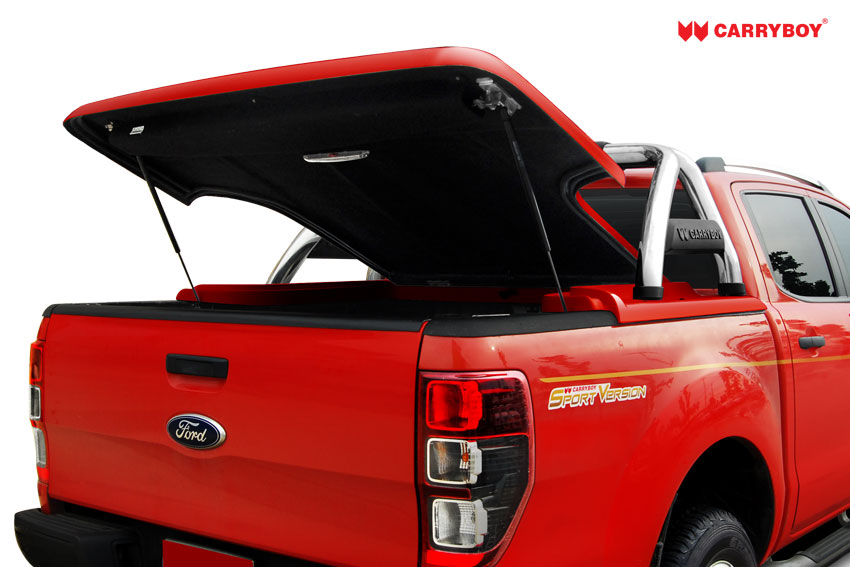 CARRYBOY Laderaumabdeckung Flachabdeckung mit Bügel SLX Isuzu D-Max Doppelkabine 2012-2020