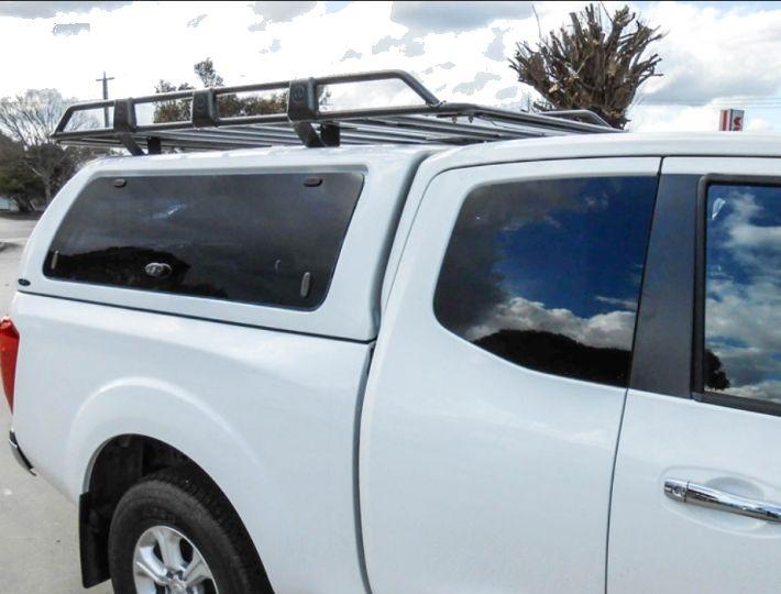 CARRYBOY GFK Hardtop seitliche Glasklappen Nissan Navara NP300 Kingcab extrem stabiles Material