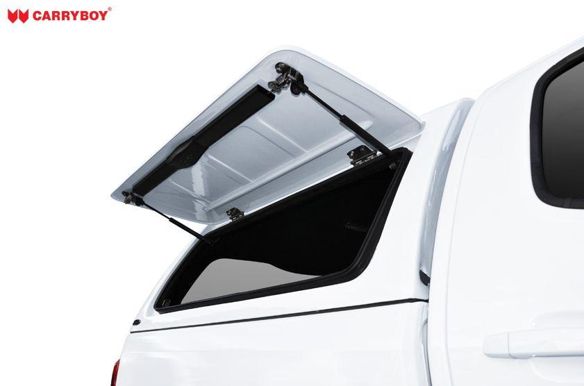 Nissan Navara Doppelkabine CARRYBOY Hardtop mit GFK Klappen SOK Klappen aus Glasfaser Kunststoff