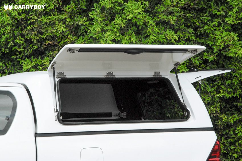 CARRYBOY Gewerbehardtop mit Kunstoffklappen Mitsubishi L200 Fiat Fullback Extrakabine Clubcab grosse Öffnung
