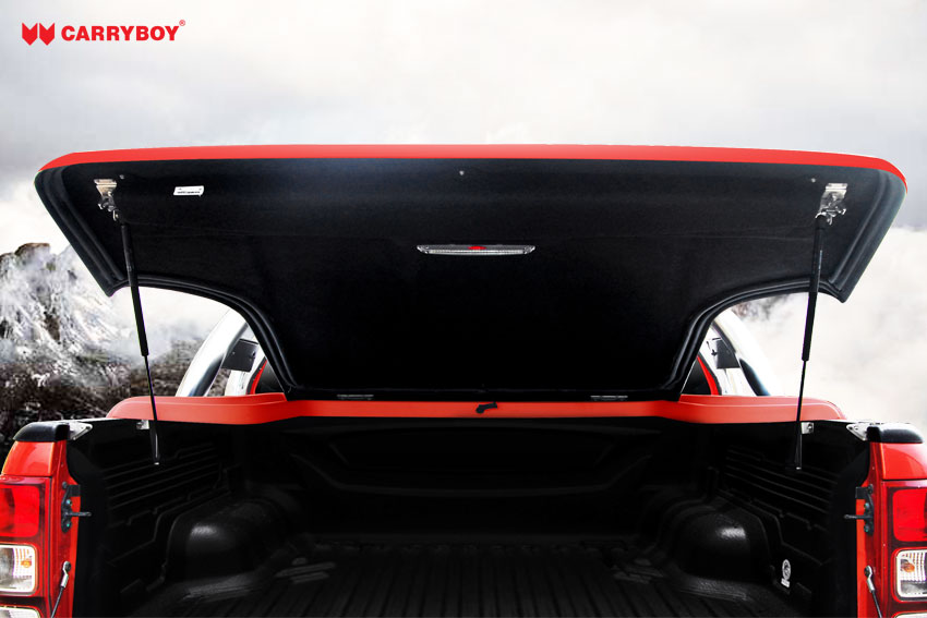 CARRYBOY Laderaumabdeckung Deckel in Wagenfarbe einfache Installation Ford Ranger Doppelkabine 2012+
