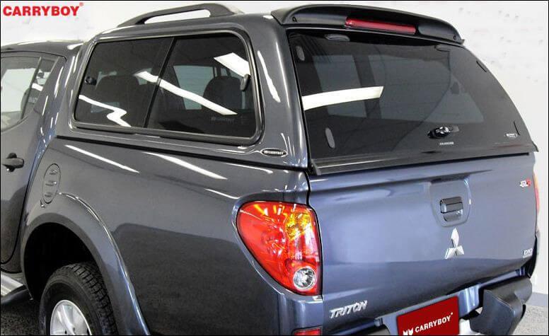CARRYBOY Hardtop mit Schiebefenster 560-MTDL Mitsubishi L200 Doppelkabine Langbett 151cm Heckscheibe mit Heizung