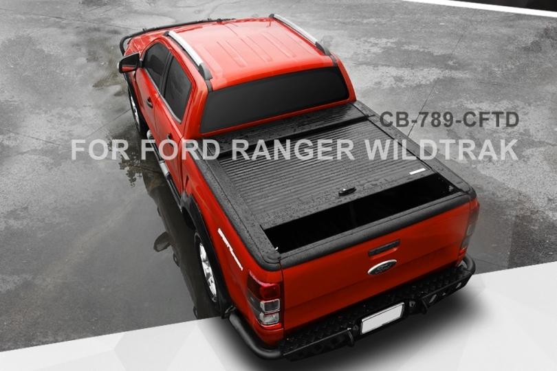 Ford Ranger Doppelkabine Laderaumabdeckung Rollo aus Aluminium, offen fahrbar