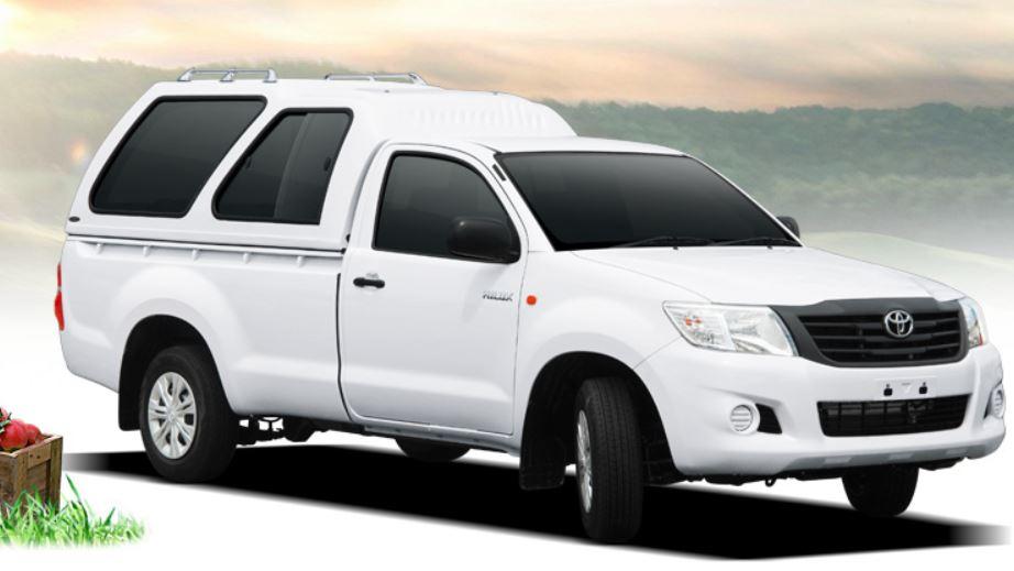 CARRYBOY Hardtop mit Überhöhe Modell 840 mit Schiebefenster Toyota Hilux Singlecab
