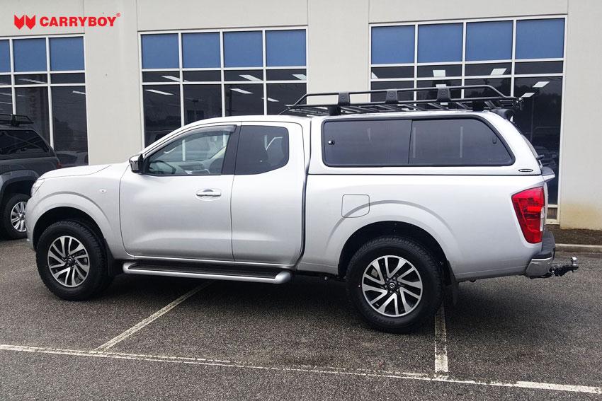 CARRYBOY Hardtop 560gF-NP3K große Schiebefenster Nissan Navara NP300 Kingcab Extrakabine 2016+ getönte Seitenfenster