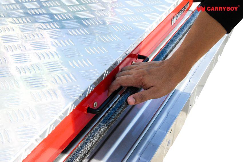 CARRYBOY Ladebodenauszug ausziehbarer Ladeboden 350kg Premium Aluminium Vollbett Schublade sichere Arretierung