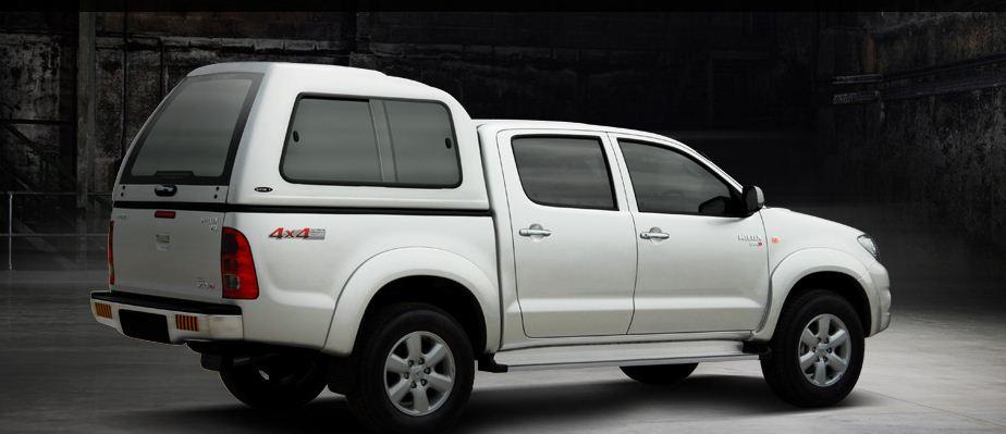 Carryboy Hardtop 840 in Übergröße für Toyota Hilux Vigo Doppelkabine | seitliche Schiebefenster
