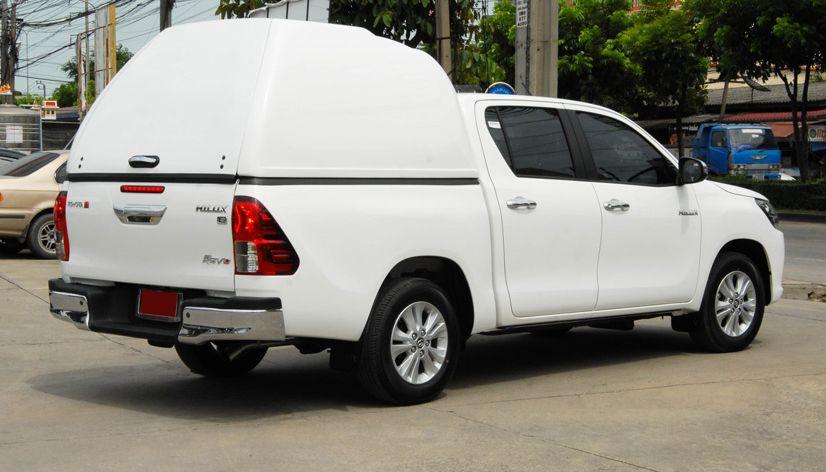 CARRYBOY Transporthardtop ohne Seitenfenster geschlossene Seiten 840os-TRD überhoch Toyota Hilux Revo Invincible Doppelkabine extrem stabil maximales Volumen