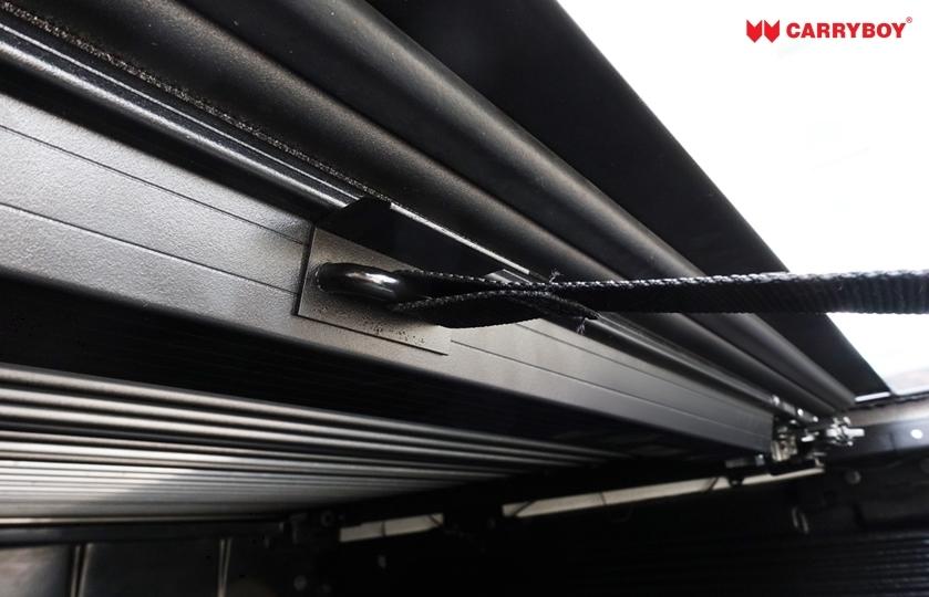 Ford Ranger Doppelkabine Laderaumabdeckung Rollo aus Aluminium, sicher abschließbar