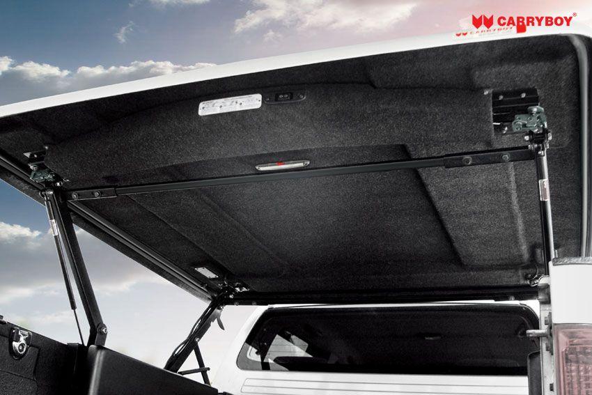 CARRYBOY Laderaumabdeckung Pickup mit Motorhub SMX Deckel auf Kabinenhöhe einstellbar LED Innenlicht