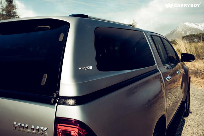 CARRYBOY Design Hardtop mit getönten Ausstellfenster S6 für VW Amarok Doppelkabine GFK Hardtop