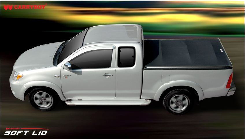 Carryboy Soft Lid Modell 743-NP3K Nissan Navara NP300 Kingcab Aufbbau mit Übebrkantewanne